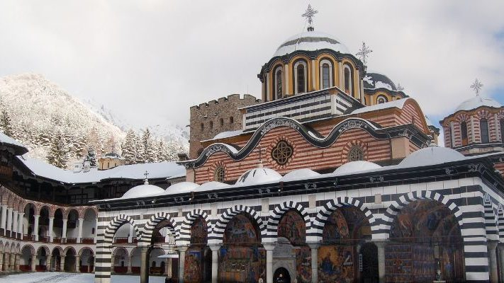 Winter Rila Monastery